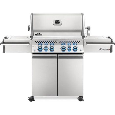 Barbecue à gaz Napoleon Prestige Pro 4 brûleurs + Sizzle Zone + brûleur arrière