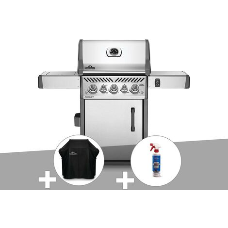 Barbecue à gaz Napoleon Rogue SE 425 inox 3 brûleurs + Housse de protection + Nettoyant grill 3 en 1