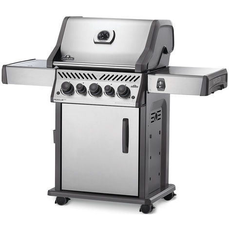Barbecue à gaz Napoleon Rogue SE 425 inox 3 brûleurs + Sizzle Zone + brûleur arrière