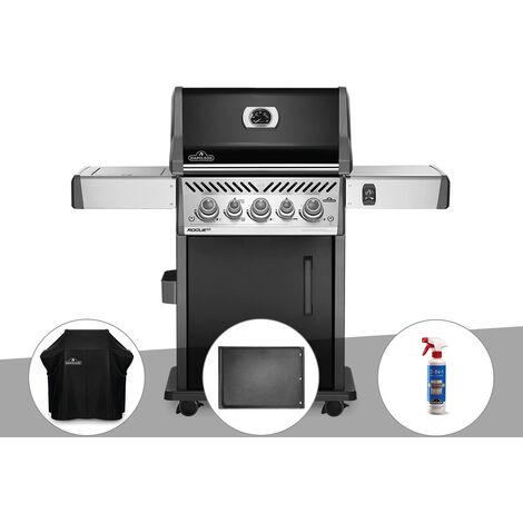 Barbecue à gaz Napoleon Rogue SE 425 SIB noir 3 brûleurs + Housse de protection + Plancha + Nettoyant grill 3 en 1