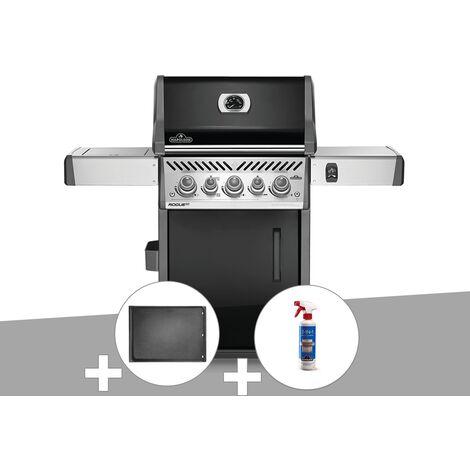Barbecue à gaz Napoleon Rogue SE 425 SIB noir 3 brûleurs + Plancha + Nettoyant grill 3 en 1