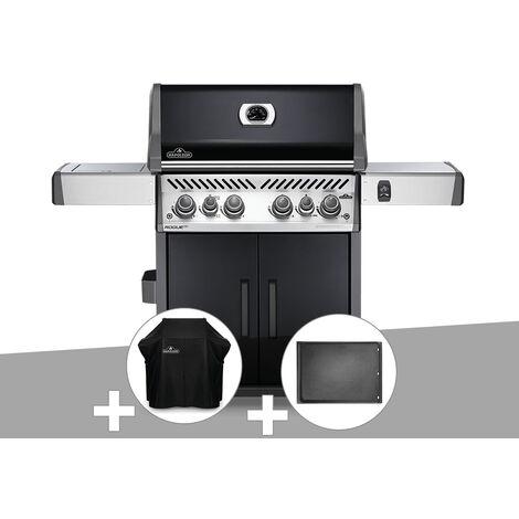 Barbecue à gaz Napoleon Rogue SE 525 noir 4 brûleurs + Housse de protection + Plancha