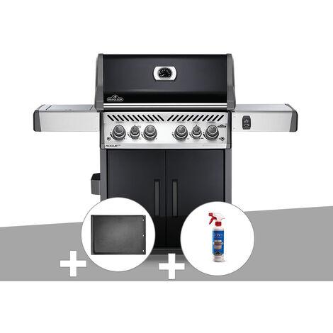 Barbecue à gaz Napoleon Rogue SE 525 noir 4 brûleurs + Plancha + Nettoyant grill 3 en 1