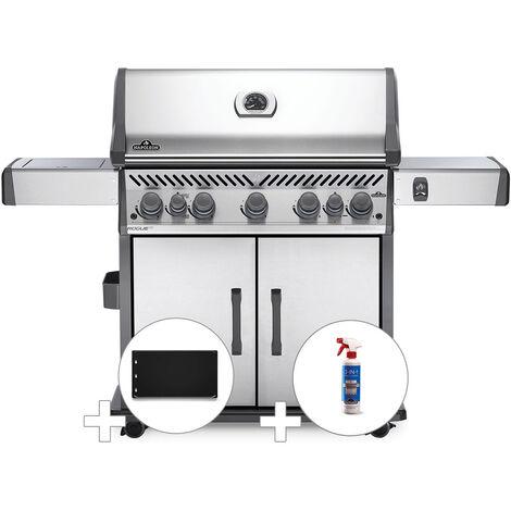 Barbecue à gaz Napoleon Rogue SE 625 inox 5 brûleurs + Plancha + Nettoyant grill 3 en 1