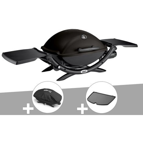 Barbecue à gaz Weber Q 2200 + Housse + Plancha