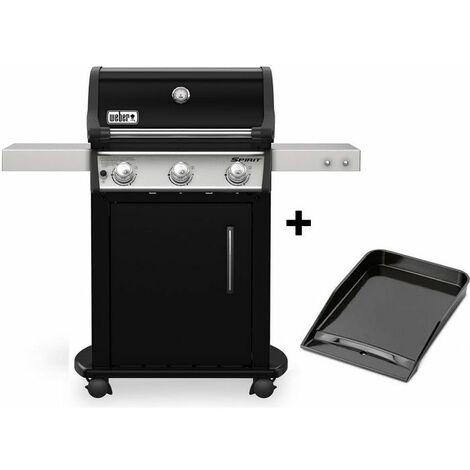 Barbecue à gaz Weber Spirit Premium E-315 + Plancha - Noir