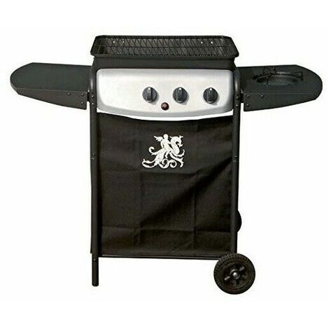 Barbecue a pietra lavica a gas con fornello laterale grill-o' gdlc grill-ò