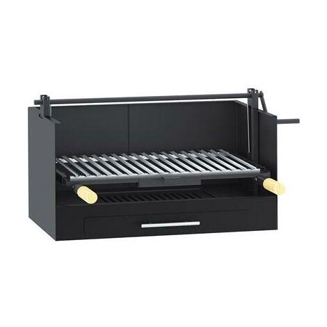 Barbecue à poser ou à encastrer en acier au carbone 72x40x38cm