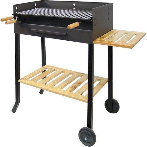 Barbecue à roulettes avec grille en inox IMEX EL ZORRO