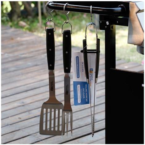 Barbecue accessories Barbuc 1 - 3 parts - silver / black