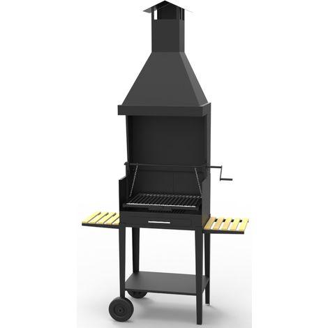 Barbecue argentin charbon bois FM BV-22 sur chariot