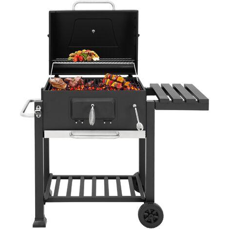 Barbecue au charbon de bois BBQ pique-nique 2 grilles en acier inox ML-Design®