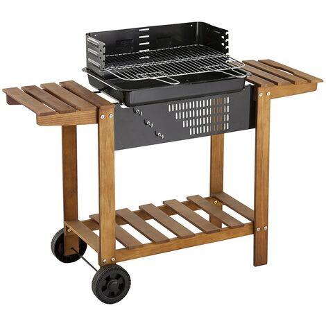 Barbecue au charbon de bois Neka Azur bois 55 - Marron