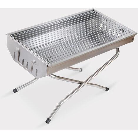 Barbecue au charbon de bois portable pliant en acier de camping Poplar