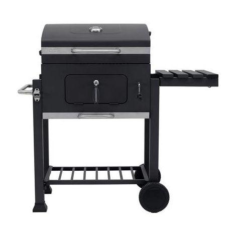 Barbecue au charbon de bois tepro Garten Toronto 1061N chariot à grillade thermomètre dans le couvercle anthracite, acier inoxydable 1 pc(s)