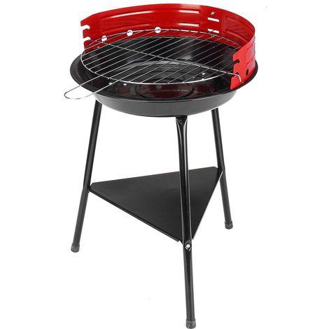 Barbecue au Charbon Portable Grill Poêle en Acier Inoxydable