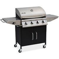 Barbecue Au Gaz Albert Cuisine Extérieure 4 Brûleurs Feu Latéral Avec Thermomètre