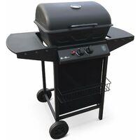 Barbecue au gaz Aramis cuisine extérieure 2 brûleurs avec tablettes latérales et thermomètre