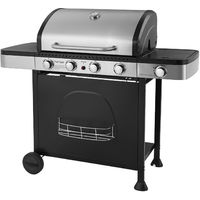 Barbecue Au Gaz Houston 4 1 Brûleurs Avec Thermomètre