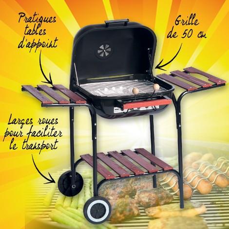 Cross Barbecue 12 tonneau 2 grilles avec tablette acier