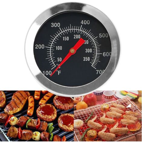 """main image of """"Barbecue BBQ Pit Smoker Grill Thermometer Temp Gauge, Stainless Steel Oven Cooking BBQ Probe Thermometer"""""""