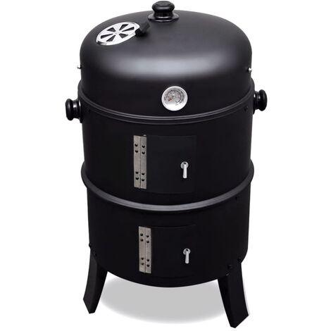 Barbecue BBQ rond américain Smoker fumoir bois ou charbon