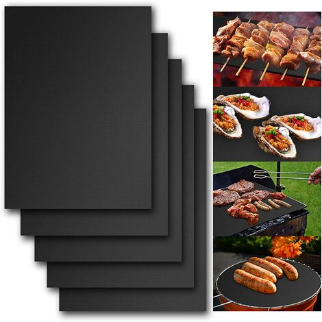 Barbecue carpet for grilling, cooking mats for grilling 400 * 500mm 5 pieces