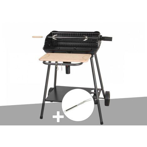 Barbecue charbon Bergamo Somagic + Fourchette en inox