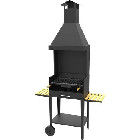 Barbecue charbon bois FM BV-12 sur chariot