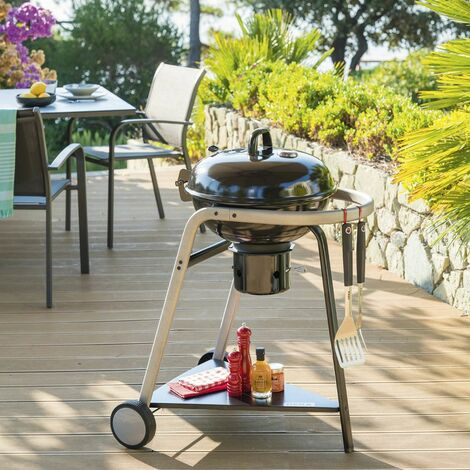 """main image of """"Barbecue charbon couvercle Pyla 43 cm Neka - 8 personnes"""""""