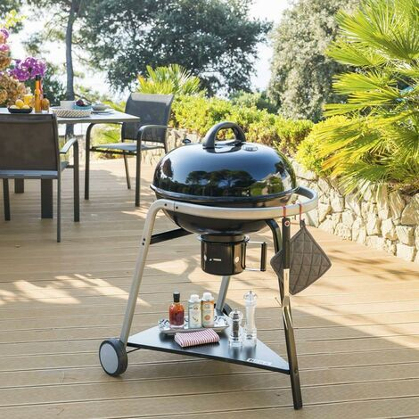 Barbecue charbon couvercle Pyla 55 cm Neka - 12 personnes