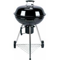 Barbecue charbon de bois ⌀57cm Georges noir, récupérateur de cendres, grille chromée, fumoir