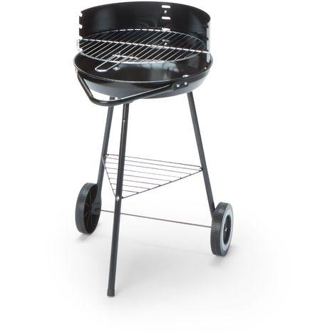 Barbecue charbon de bois Cleverly 44x52x70 cm avec structure en acier | noir