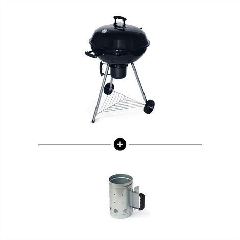 Barbecue charbon de bois Georges + cheminée d'allumage