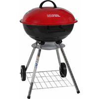 """Barbecue charbon de bois """"Royal"""" - Dia 44 cm - Rouge"""