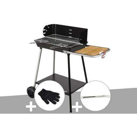 Barbecue charbon Florence Somagic + Gant de protection + Fourchette en inox