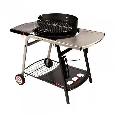 Barbecue Charbon Fonte sur Chariot VULCANO 2500