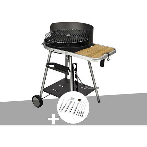 Barbecue charbon Port Grimaud Somagic + Malette 8 accessoires inox
