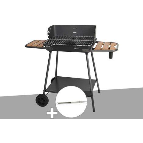 Barbecue charbon Promenade Somagic + Fourchette en inox