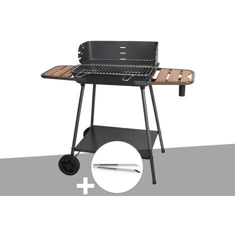 Barbecue charbon Promenade Somagic + Pince en inox