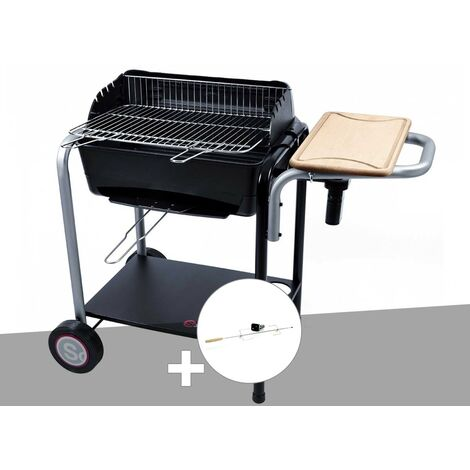 Barbecue charbon Roma Somagic + Kit tournebroche