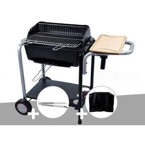 Barbecue charbon Roma Somagic + Pince inox + Housse