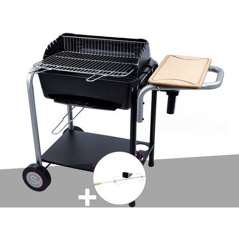 Barbecue charbon Roma + tourne broche