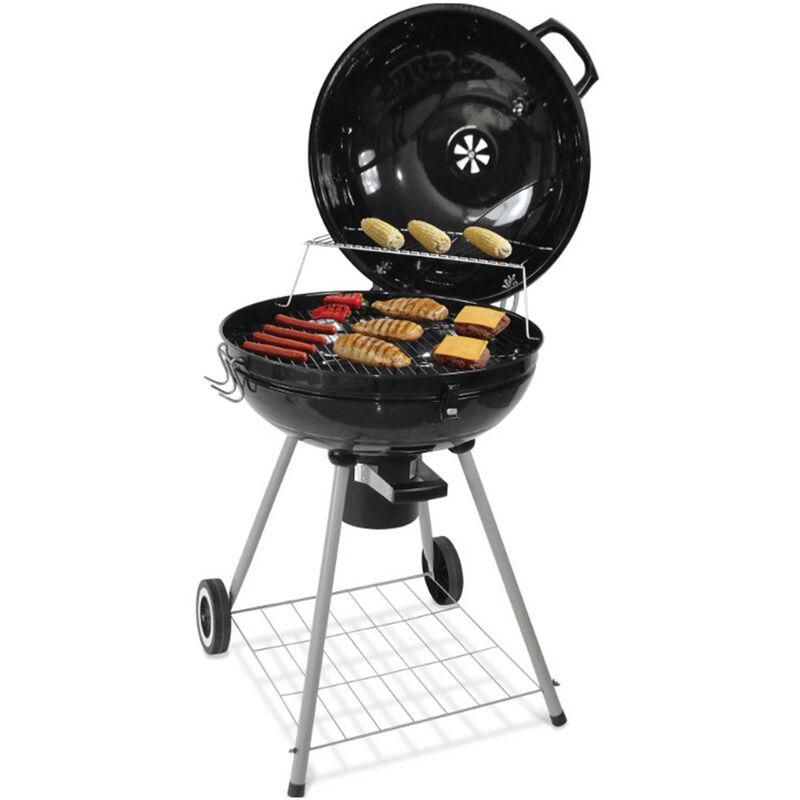 Barbecue à charbon sphérique 68*58*90cm noir