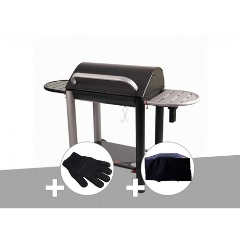 Barbecue charbon Vulcano 3000 Somagic + Gant de protection + Housse
