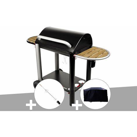 Barbecue charbon Vulcano 3000 Somagic + Kit tournebroche + Housse