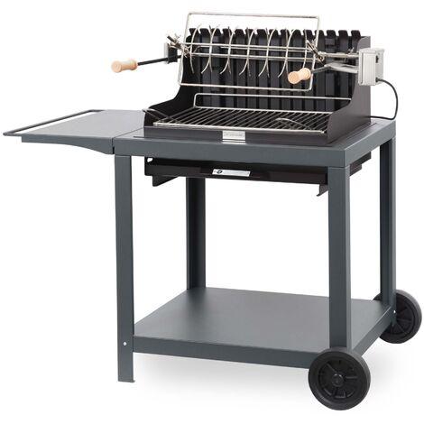 Barbecue + Chariot Exclusive Mendy 54*32 Ardoise LE MARQUIER - Gris ardoise