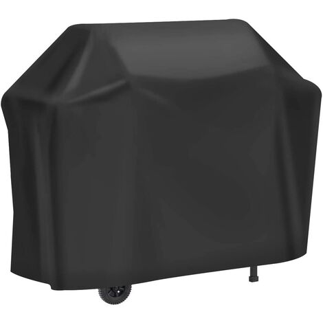 """main image of """"Barbecue Cover, 210D Heavy Duty Protective Cover Oxford Gas BBQ Protection, Windproof / Anti-UV / Water-Proof / Moisture-Proof / Dustproof Cover 147x61x117cm Black"""""""