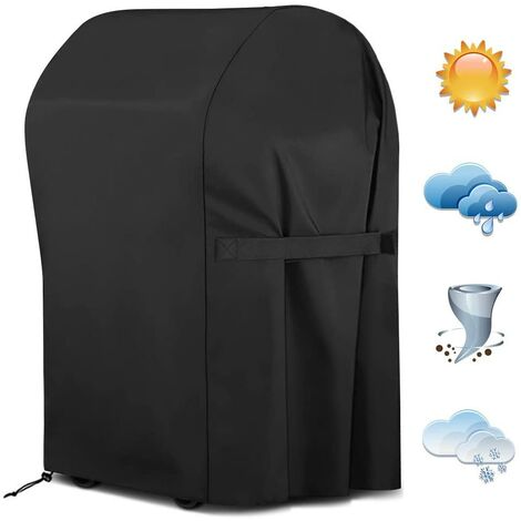 """main image of """"Barbecue Cover, BBQ BBQ Waterproof Gas Grill Protective Cover, Gas Grill Protective Cover Cover Hood 77 x 67 x 110cm Black"""""""