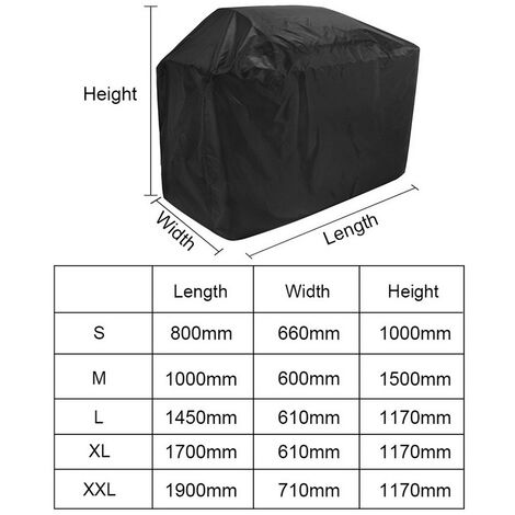 """main image of """"Barbecue Cover, Heavy Duty Oxford Cloth Waterproof & Dust-proof & Anti-UV Outdoor BBQ Grill Cover, S(80*66*100cm)"""""""